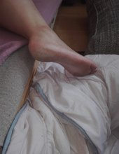 subka spí a nemá upravené nohy