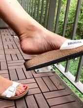 Nozky na balkone