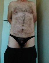 In wife's panties.