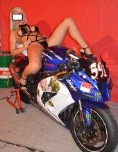 Moto racing girl