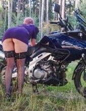 Zneužitá motorkářka