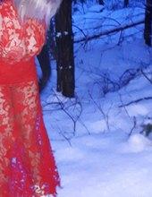 červená v zimě