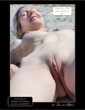 Annabel hot lips on the beach