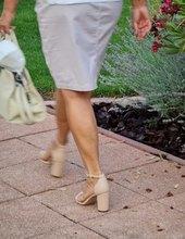 Béžové sandalky