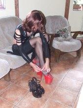 latex & high heels
