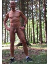 na lesním pozadí