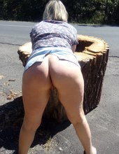 Čubka a špalek u silnice