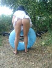 na kole u vody
