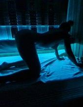 Modrá v privátnej saune:)