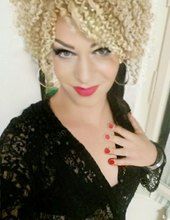 Blonde Afro Trans