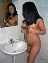 Bathroom with rose...