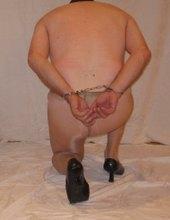 faggot slave in cuffs 01
