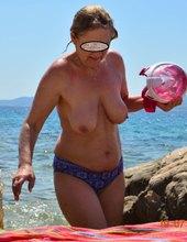 Zase nahá v Chorvatsku