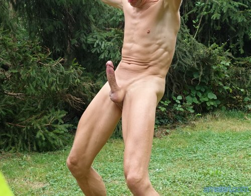 Naked errect shaved men