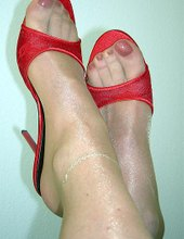 My Feet in Nylons and Heels