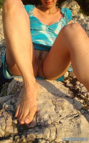 roztáhla nohy amateri fotky