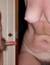 Hairy mature couple