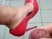 Červené lodičky 16cm
